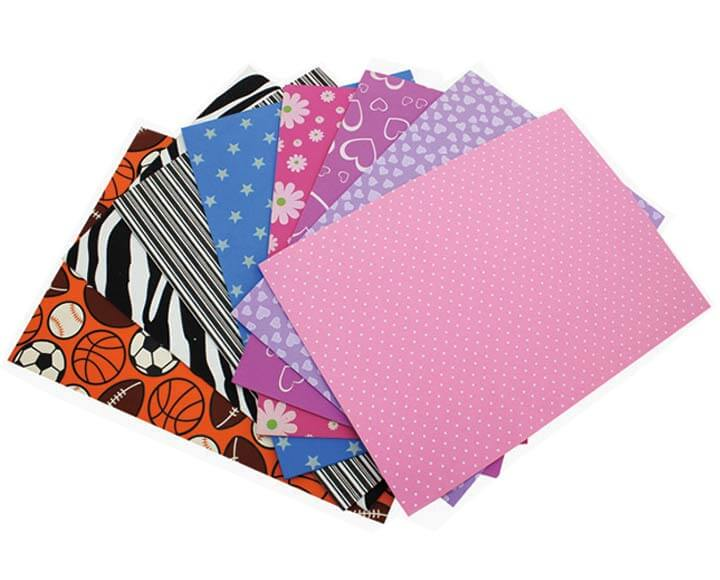 printing craft foam sheets with custom design