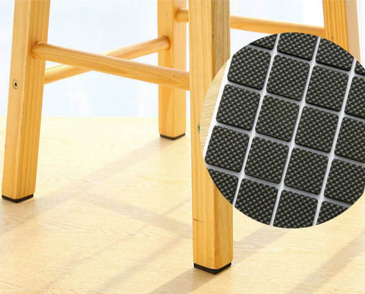 square shape furniture pads for chair on floor