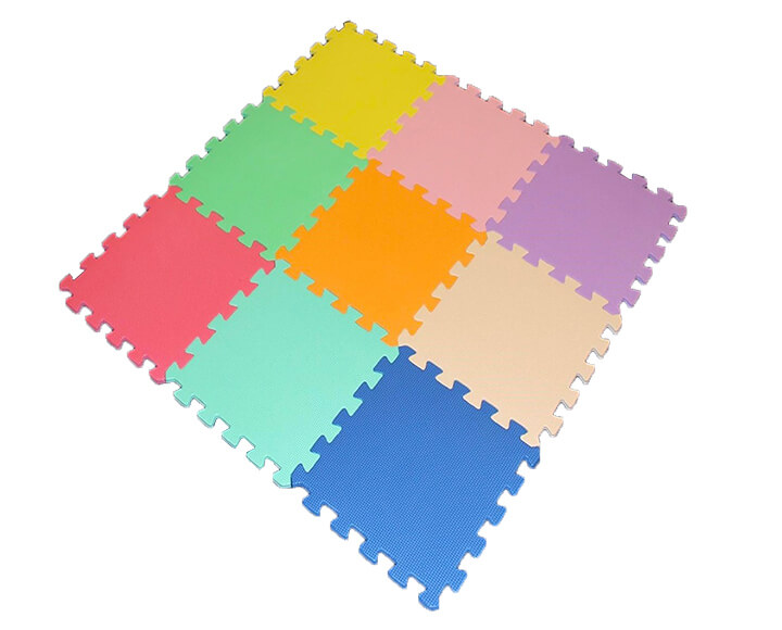 Large piece color household puzzle mats