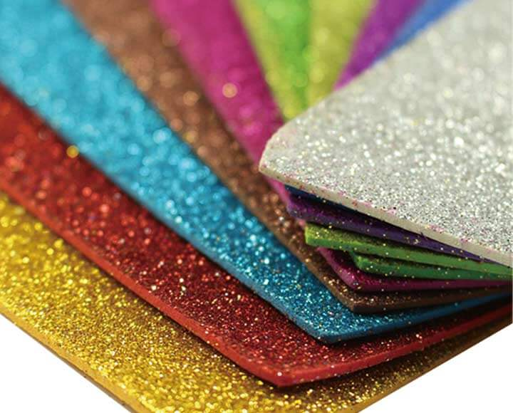 colorful eva glitter foam sheets