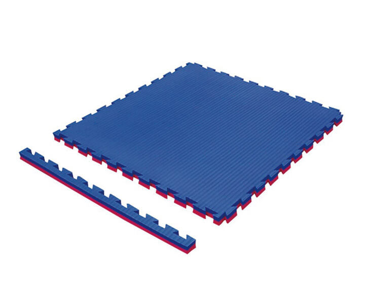 Blue interlocking tatami puzzle mat