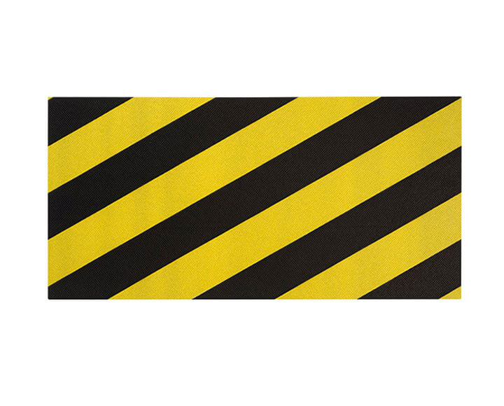 yellow and black foam garage wall protector