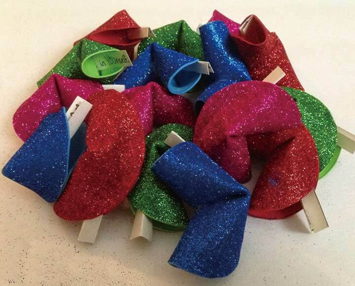 glitter craft foam flowers