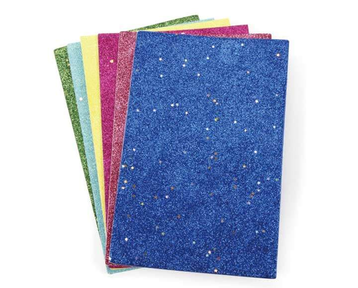 multicolor glitter craft foam sheets