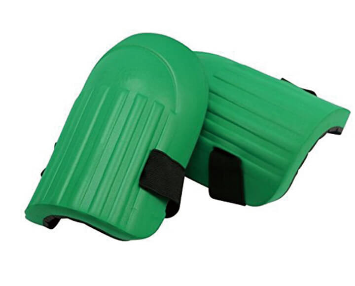 green foam knee pads with strap for safety protector