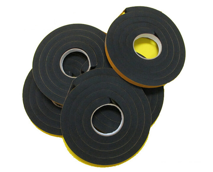 Custom Neoprene rubber foam tape with adhesive