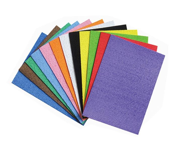 colorful plush craft foam sheets