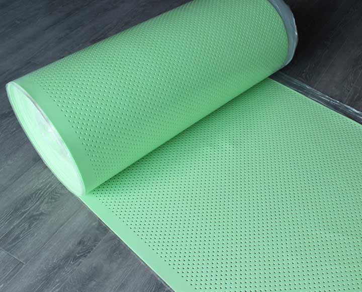 green perforated polyethylene foam underlay for heating floor
