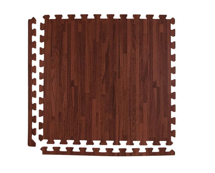 brown color wood foam mats with border strips