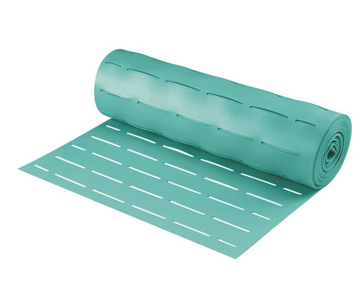 green eva slotted foam underlay for underfloor heating flooring