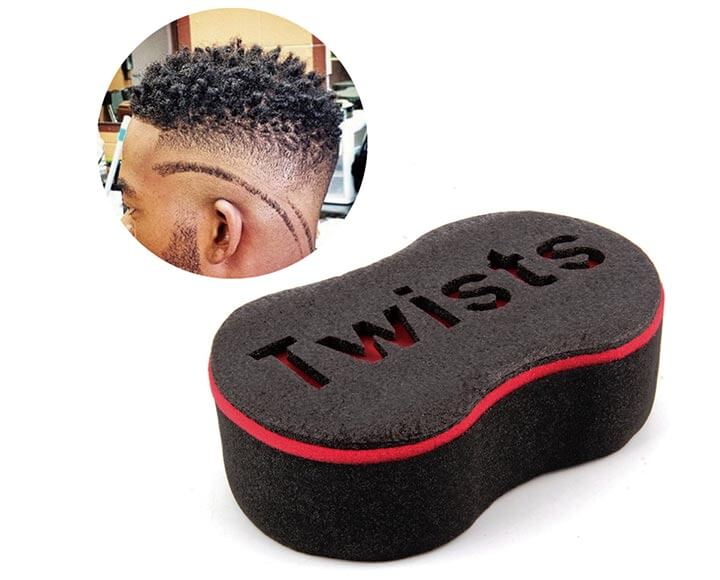 people after using hair curl sponge