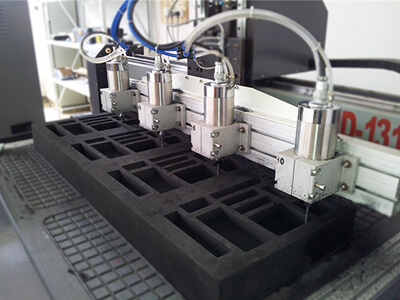 CNC foam cutting machines for foam packaging insert