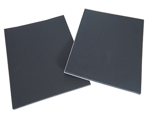black closed cell soft pvc foam sheets with adhesive backing