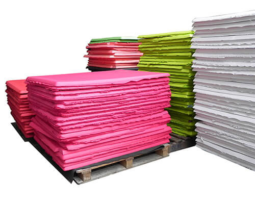 color eva foam sheets well packed on pallets