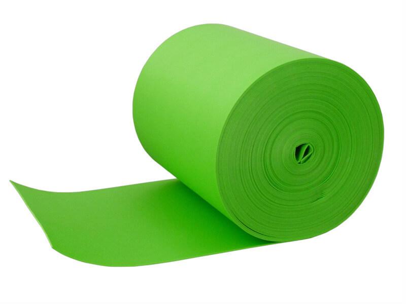 green closed cell cross linked polyethylene foam roll