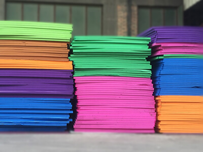 color eva foam in different thickness by skiver