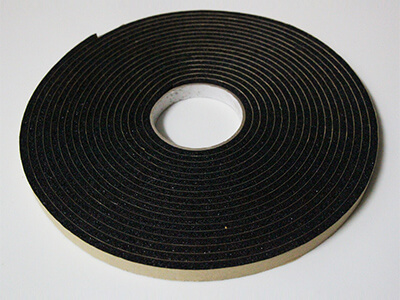 custom neoprene foam tape with adhesive backing