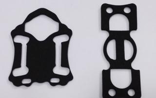 black custom molding foam rubber gaskets