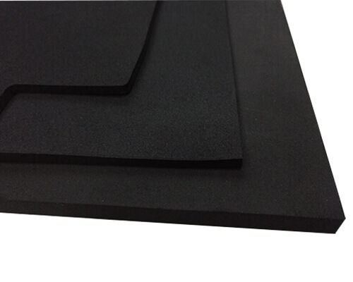 Neoprene sponge rubber with different thicknesses