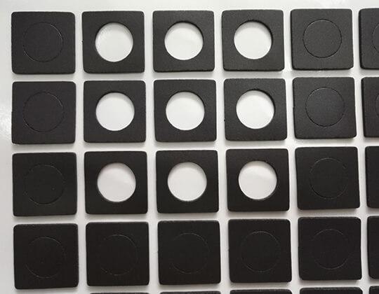custom soft closed cell PVC foam gaskets