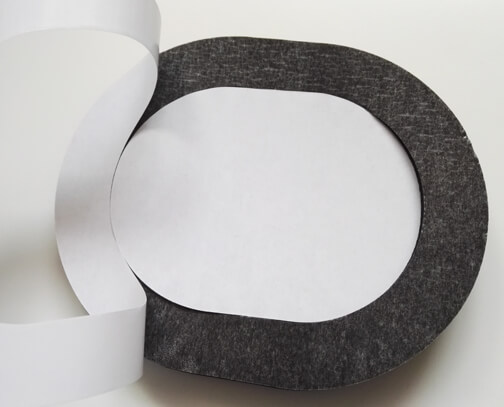PVC NBR foam gasket with self-adhesive