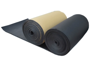 NBR foam rubber sheets for heat and sound insulation