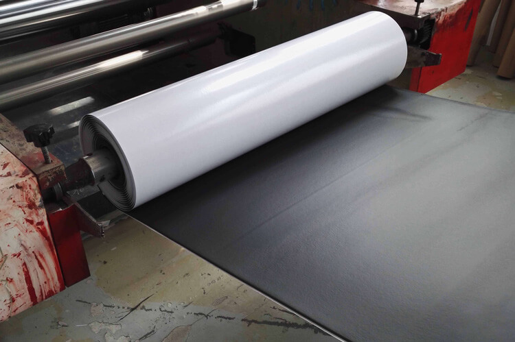 NBR foam roll on adhesive lamination machinery