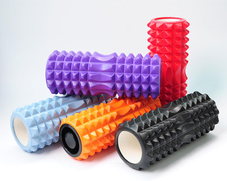colorful EVA foam rollers
