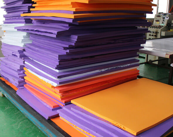 Buoyant EVA foam sheets and blocks