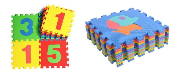 Kids play foam tiles