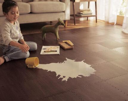 Waterproof wood grain foam puzzle mats