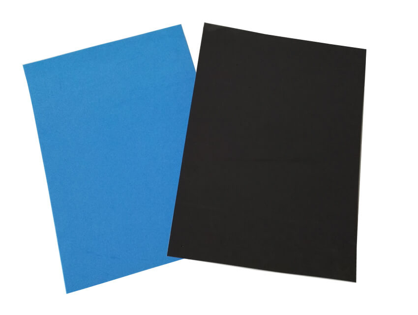 Blue and Black EVA Foam Sheets